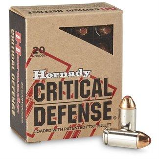 HORNADY CRITICAL DEFENSE .40 S&W 165GR FTX
