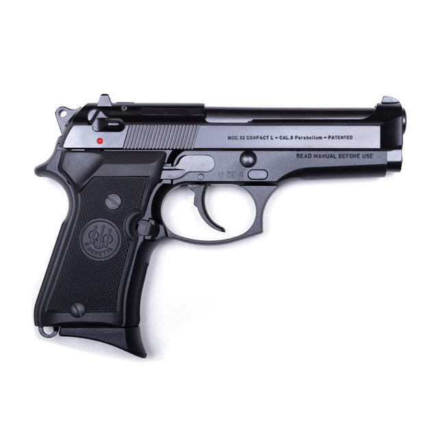 """BERETTA 92FS Compact 9mm 4.25"""" 3 Dot/Blue"""