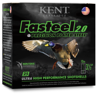 "Kent Fasteel 2.0, 12GA,  3 1/2"", 1 3/8OZ, 1550FPS #2  250RS/CASE"