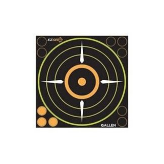 Allen 15228 EZ See Adhesive Bullseye Target (6 per pack) Blk