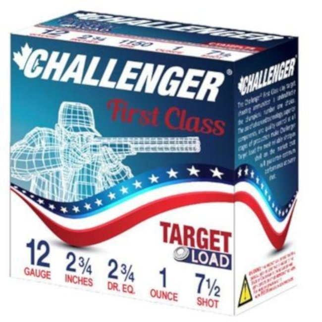 Challenger 12 Ga First Class Target Load 2-3/4in 1oz. #7.5 Shot 250rds