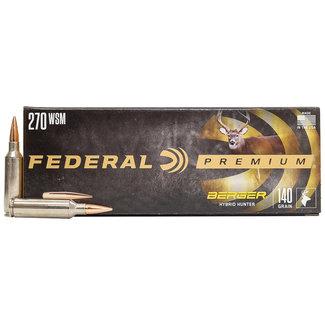 Federal 270 WSM 140 gr Berger Hybrid Hunter 20/Box