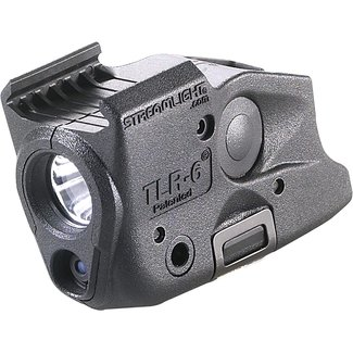Streamlight 69290 TLR-6 Tactical Pistol Mount Flashlight 100 Lumen with Integrated Red Aiming Laser Only for Glock Railed Hand Guns, Black