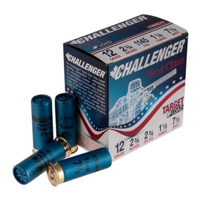 Challenger Target Load Handicap, 12 Ga, 2.75'', #7.5  Box of 250 Rs (ONLY PICK UP IN STORE )