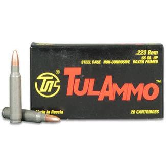 tulammo Tulammo 223 REM HP 55gr Steel Case NON-Corrosive 500rs