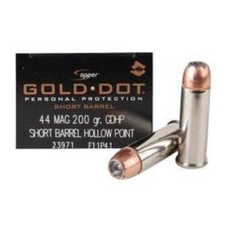 SPEER Speer Gold Dot 44 Rem Mag 200 GR HP 20/BOX
