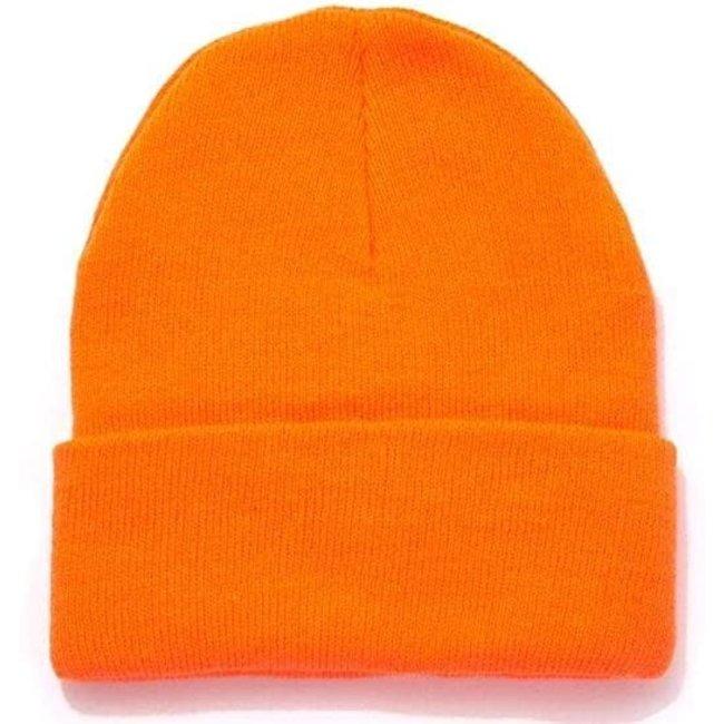 ATMAN ORANGE HUNTING BEANIE HAT