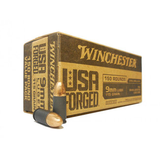 Winchester WINCHESTER USA FORGED 9MM 115GR FMJ 150RD/BOX