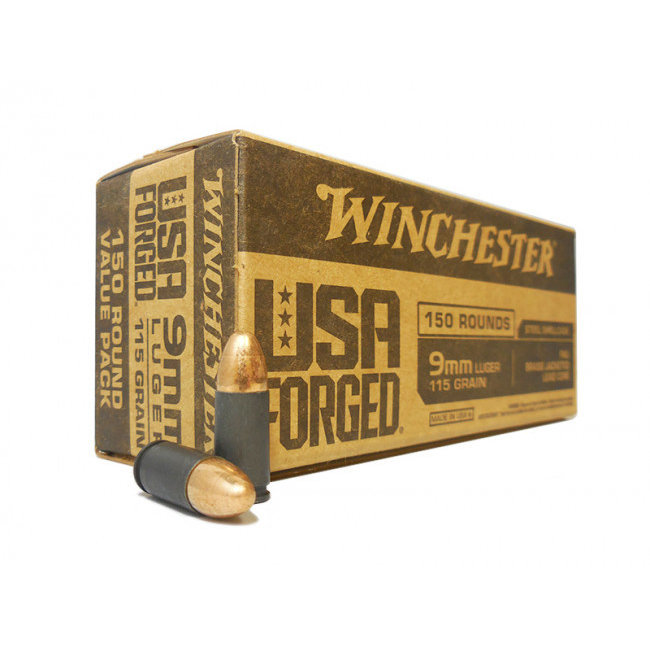 WINCHESTER USA FORGED 9MM 115GR FMJ 150RD/BOX