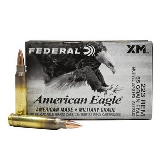 Federal FEDERAL AMERICAN EAGLE .223 REM 55GR FMJ20/BOX