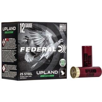 """Federal Federal Upland Steel 12ga 2-3/4"""" 1-1/8 oz #7-1/2 Shot Lead-Free 25/Box"""