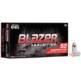CCI CCI Blazer 9mm Ammunition 115 Grains FMJ 50/box