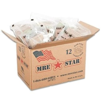 MRE Pack Full Case-12 Meals (Heaters Included)