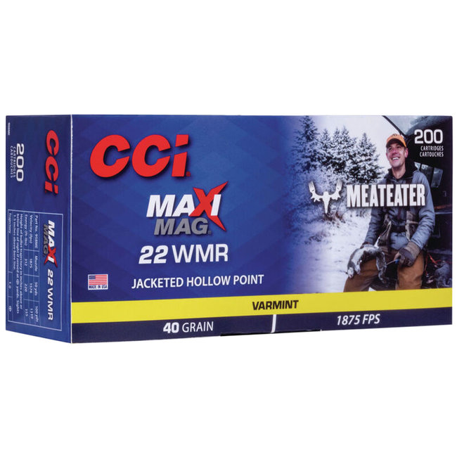 CCI 958ME Maxi-Mag Meat Eater 22 Mag 40 GR JHP Box Of 200