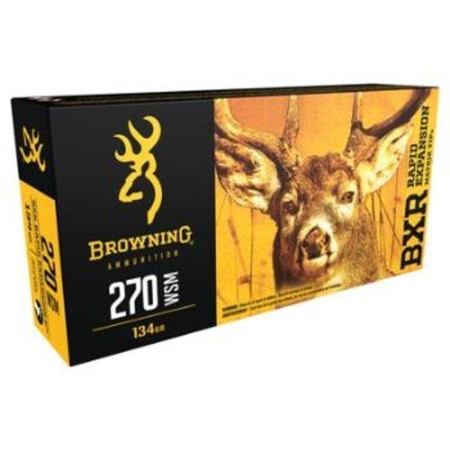 Browning BXR 270 WSM 134gr Deer Ammo