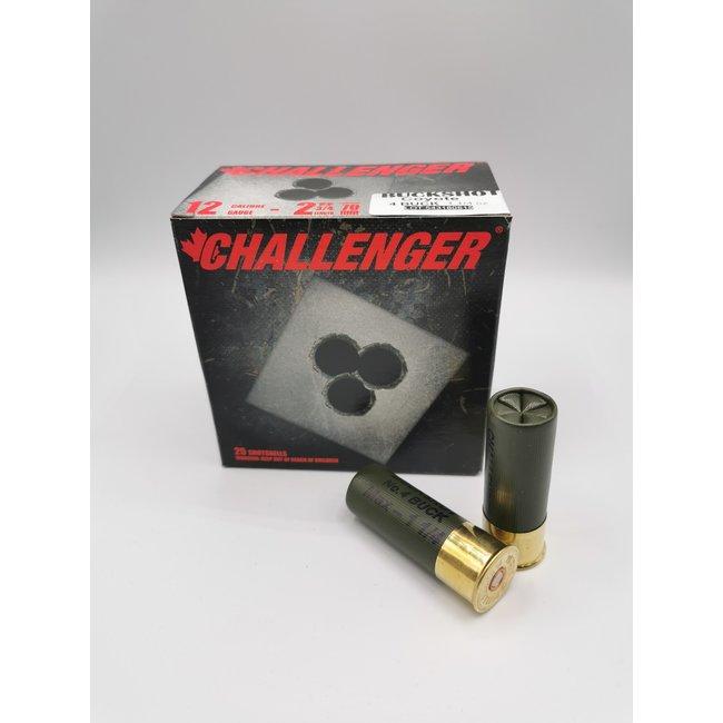 Challenger Coyote Buckshot Ammunition, 12 Ga, 2.75″, #4 Buck 00140 Box Of 25