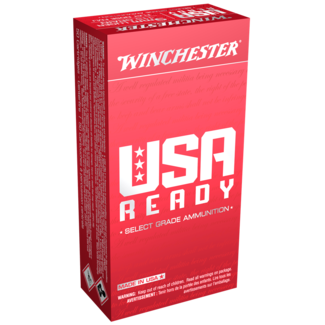 Winchester WINCHESTER USA READY 9MM LUGER 115GR FMJ-FLAT NOSE 500RS/CASE