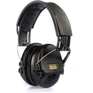 Sordin MSA Sordin Supreme Pro X, black cups, black leather  headband, gel earseals