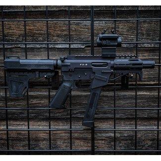 """freedom ordnance Freedom Ordnance FX-9 P8 9mm 8"""" Black w/ Athlon TSR2 Red Dot"""