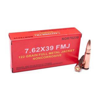 Norinco NORINCO 7.62 X 39 NON-CORROSIVE 122GR FMJ – Box of  20rs