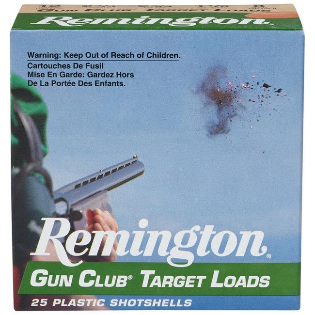 "REMINGTON GUN CLUB TARGET LOAD 12GA 2.75"" 1.1/8OZ #8  1200FPS 25RS/BOX"