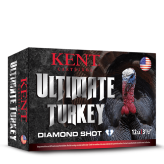 Kent Cartridge KENT Ultimate Diamond Shot Turkey, #4,12GA 3 1/2 '', 2 1/4 OZ, 1200 FPS 10RS/BOX