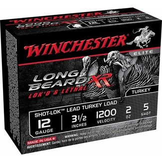 "Winchester WINCHESTER LONG BEARD-XR 12GA 3.5"" 2OZ. #5 TURKEY LOAD 10RS/BOX"