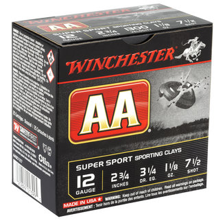"Winchester WINCHESTER AA SPORTING CLAYS 12GA 2.75"" 1.125OZ. #7.5"