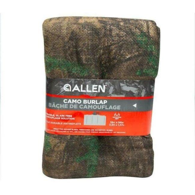 """Allen 2566 Camo Burlap, 12' x 54"""" Oak Brusk"""