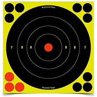 Birchwood Casey Shoot-N-C Bull's Eye Target (8-Inch) Pack 30 With 360 Pasters