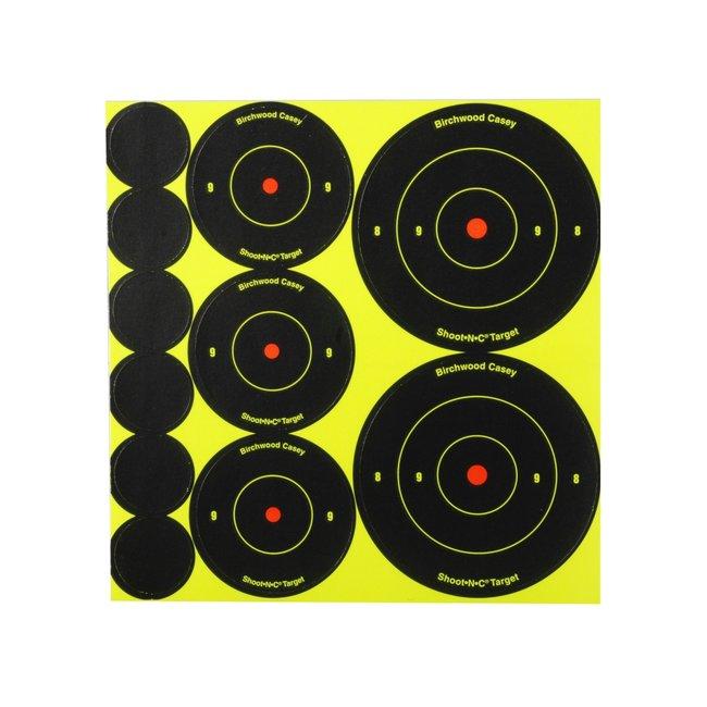 """Birchwood Casey  Shoot-N-C 72 of 1"""" , 36 of 2"""" , 24 of 3"""" Assortment 10pk"""