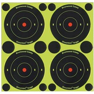 BIRCHWOOD Birchwood Casey Shoot-N-C 3 Targets, 48 Bullseye Targets, 120 Pasters