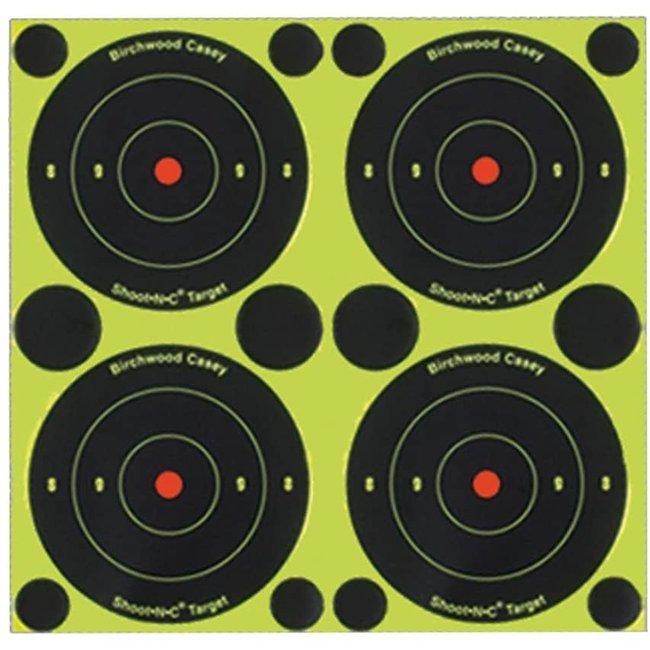 Birchwood Casey Shoot-N-C 3 Targets, 48 Bullseye Targets, 120 Pasters