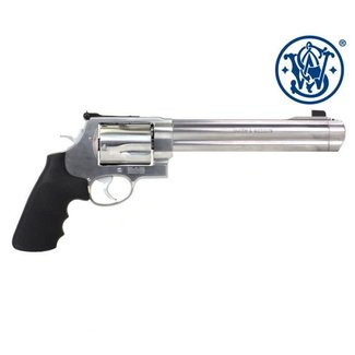 Smith & Wesson Smith & Wesson 500 Revolver 500 S&W 8-3/8″ Satin Stainless Finish HiViz Sights 163501