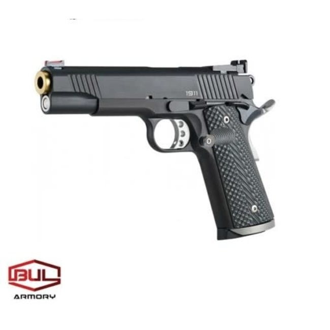 "BUL Armory 1911 Trophy (Black/Gold X-Line) Semi-Auto Pistol 9mm 5.01"" Barrel With Bushing"