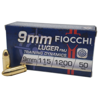 FIOCCHI FIOCCHI Brass  9mm 115Gr FMJ Training Dynamics  50rs/Box