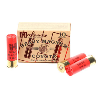 """Hornady HORNADY HEAVY MAGNUM COYOTE NICKEL PLATED LEAD SHOT #BB 3"""" 10RS/BOX"""