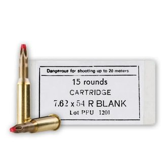 PPU PPU 7.62x54R BLANK AMMO EXTENDED CASE  15RS/BOX