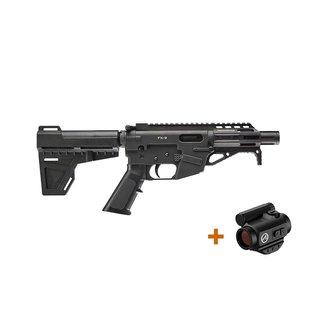 """freedom ordnance Freedom Ordnance FX-9 P4 9mm 4.6"""" Blk w/ Athlon TSR2 Red Dot"""