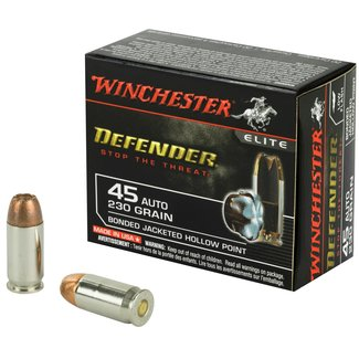 Winchester WINCHESTER DEFENDER LOW FLASH .45 ACP 230GR BONDED JHP