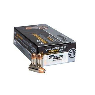 Sig Sauer Sig Sauer Elite V-Crown 9mm 147GR JHP 50rs/Box