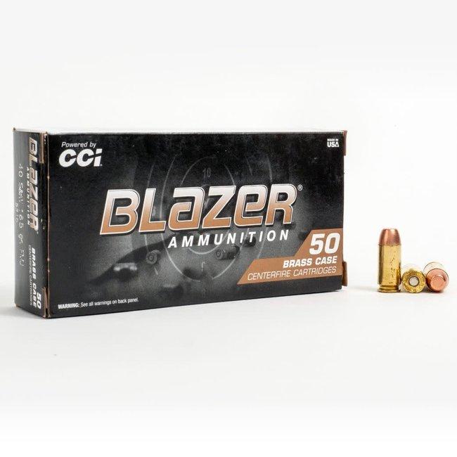 CCI Blazer FMJ Brass 40 S&W 165Gr 50Rnd/box