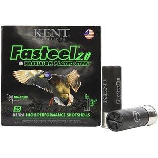 """Kent Cartridge KENT FASTEEL 2.0 12GA 3"""" 1 1/8OZ 1560FPS #4 25RS/BOX"""