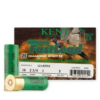"""Kent Cartridge KENT ULTIMATE FAST LEAD 16GA 2 3/4"""" 1OZ 1220FPS #5"""