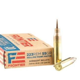 Hornady HORNADY Frontier Match Ammo 223 Rem 55 Gr HP Match Box Of 20