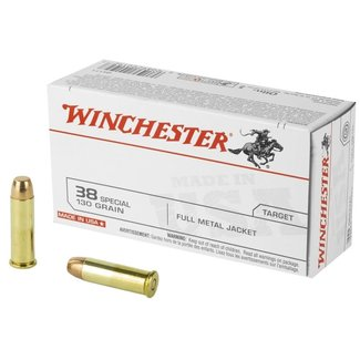 Winchester WINCHESTER 38SPL 130GR FMJ 50RS/BOX