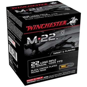 WINCHESTER Winchester Rimfire Ammo S22LRT8 M22 40Gr 1255fps  1600rds
