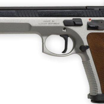 CZ CZ 75 TS Semi-Auto Pistol, 40 S&W, 5'' Bbl Steel Frame, Wood Grip, 10 Rnd, SA, Fixed Sights, Manual Safety