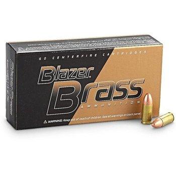 CCI (Bulk) CCI Blazer Brass Centerfire Pistol Ammo FMJ Blazer 9 mm 124GR 20 packs 1000rd
