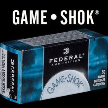Federal Federal 22wmr  Game-Shok Rimfire Rifle Ammo 22 WMR, JHP, 50 Grains, 1530 fps, 50 Rounds, Boxed